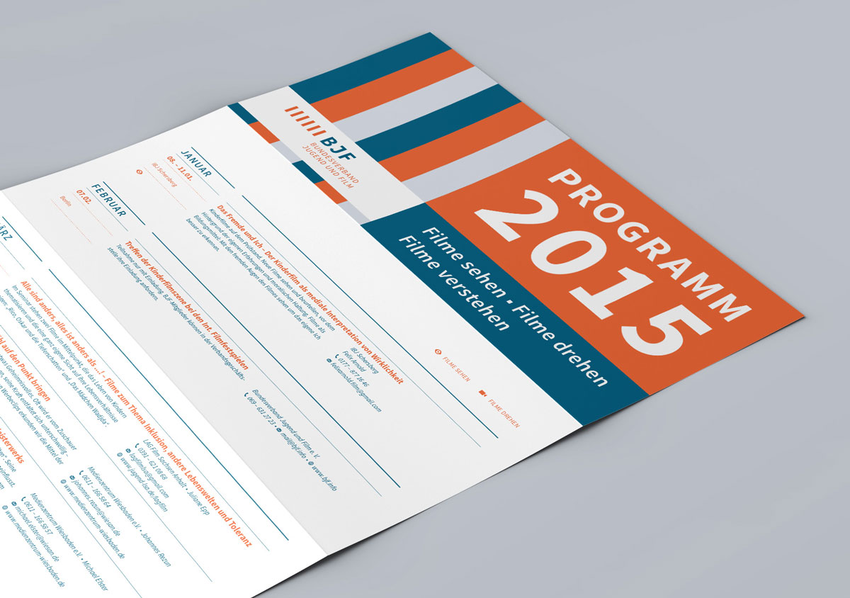 Programmflyer Print Design
